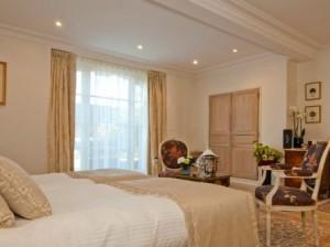 Superior room at La Villa Eugene