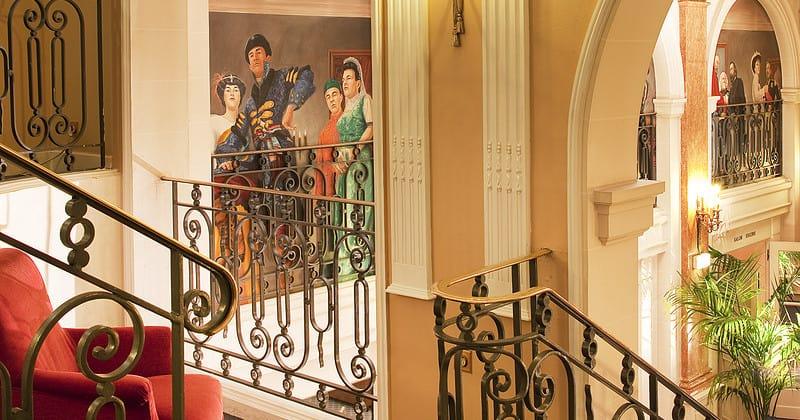 Credits Oceania HQ Hotel Oceania l'Univers stairs - credits Hotel Oceania l'Univers
