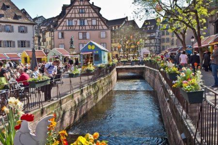 Alsace Wine Tour Colmar Place de l'Ancienne Douane Easter market © Roland Pais
