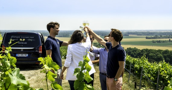 Champagne tour in France