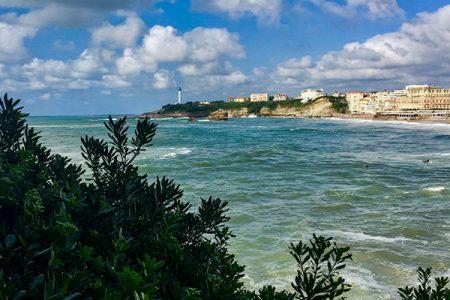 panoramic view of Biarritz