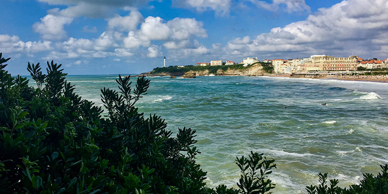 panoramic view of Biarritz