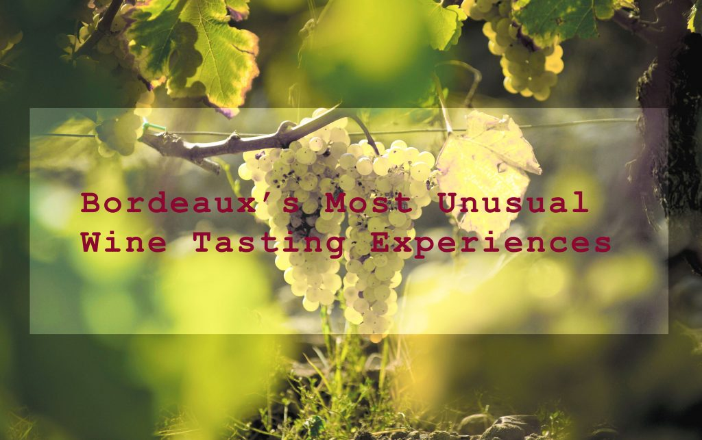 Bordeaux's most unusual wine tasting experiences